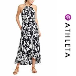 Athleta Ikat Bloom Ripple Maxi Dress Size M
